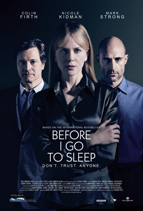 Before I Go to Sleep poster