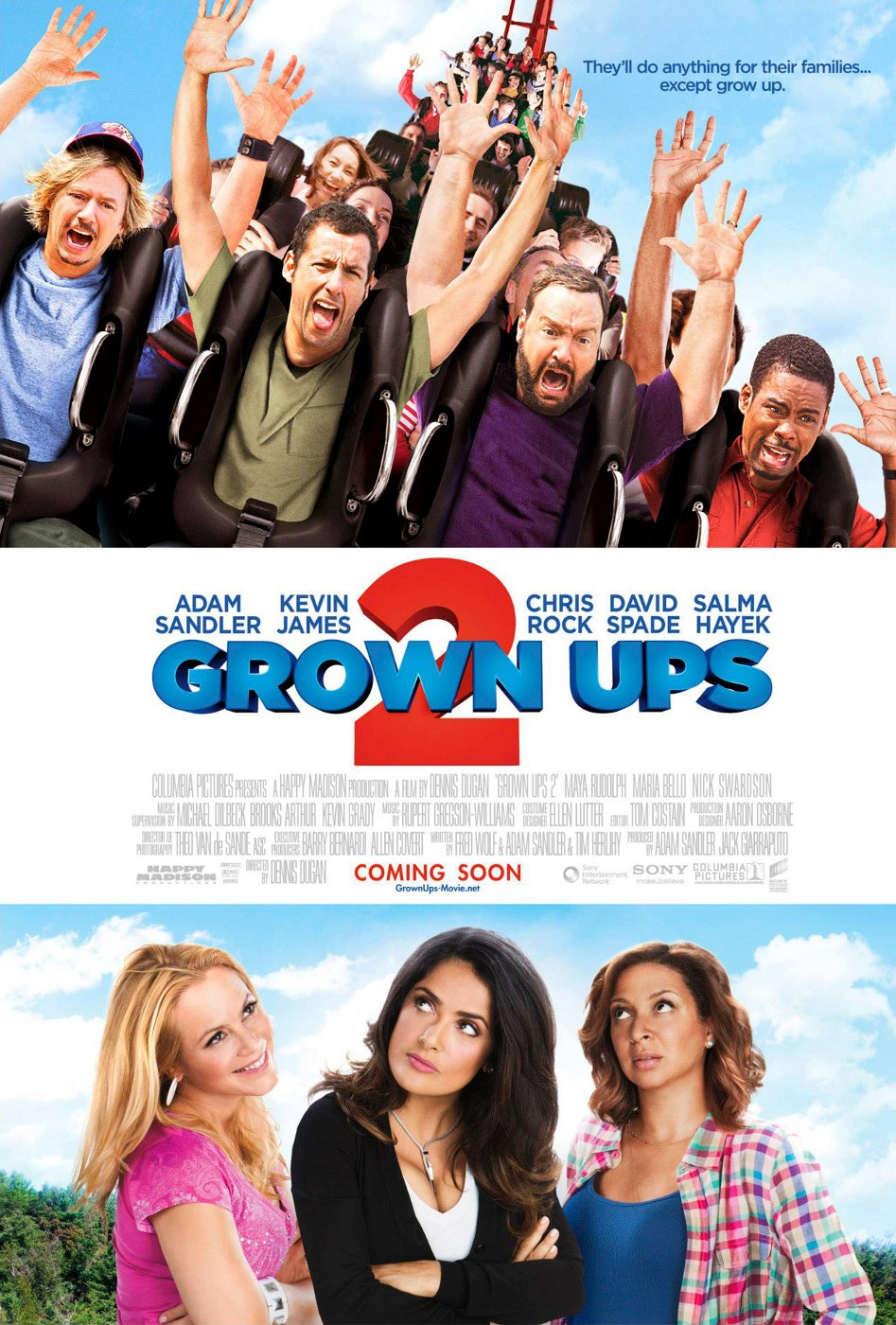 Grown ups 2 dvd release date redbox netflix itunes amazon for New kid movies coming out this weekend