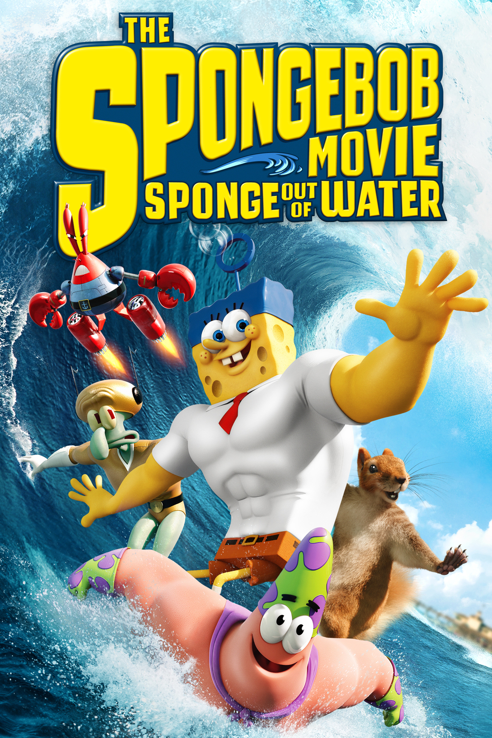 ... SPONGEBOB-MOVIE-Sponge-Out-Of-Water-27-x-40-DVD-Blu-Ray-Release-Poster